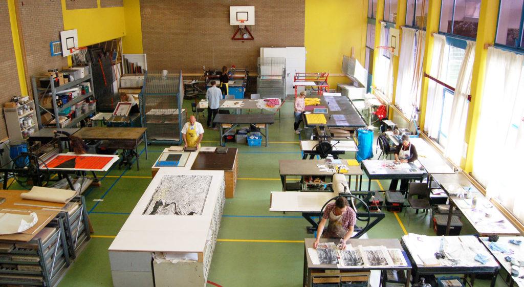 De studio van het AGA LAB in Amsterdam.