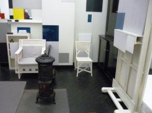 Reconstructie atelier in Parijs van Piet Mondriaan in Kunstmuseum Den Haag (foto: Chris Reinewald).