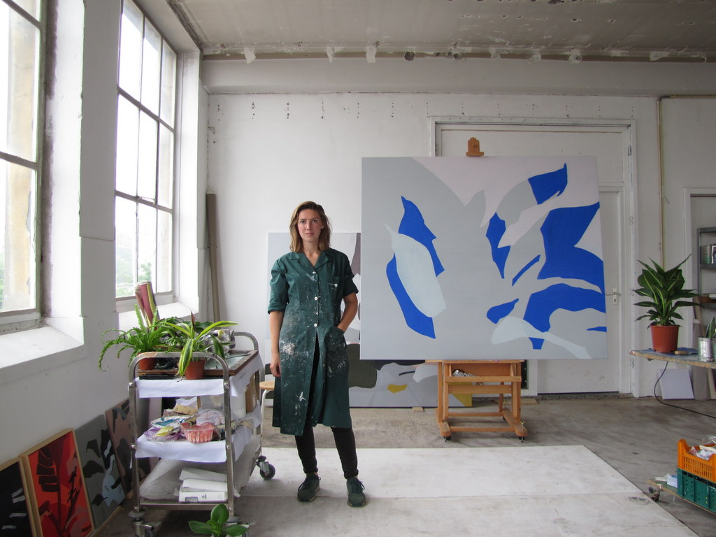 Liesbeth Piena in haar atelier.